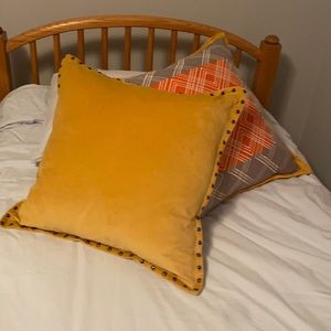 West elm velvet pillow. New